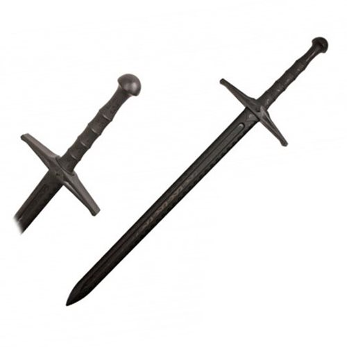 Hero's Edge Black Polypropylene Medieval Sword