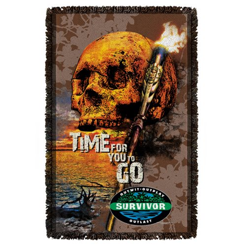 Survivor Time to Go Woven Tapestry Throw Blanket