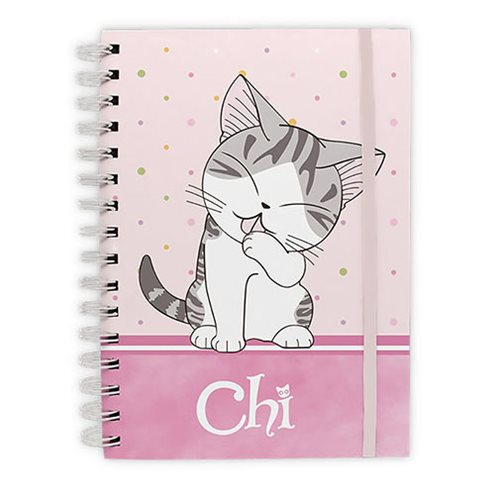 Chi's Sweet Home Purrty in Pink Spiral Notebook