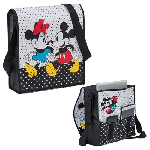 Disney Mickey and Minnie Recycled Messenger Tote