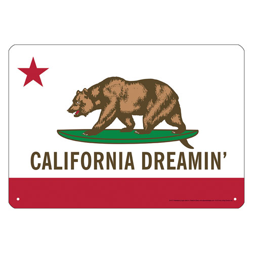 California Dreamin Tin Sign