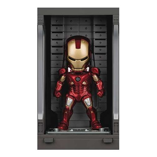 Iron Man 3 MEA-015 Iron Man MK VII Action Figure with Hall of Armor Display - Previews Exclusive