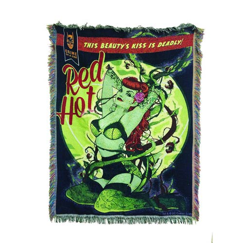 DC Bombshells Poison Ivy Woven Tapestry Blanket - Previews Exclusive