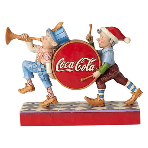 Coca-Cola Elf Marching Merry Musicians Statue by Jim Shore