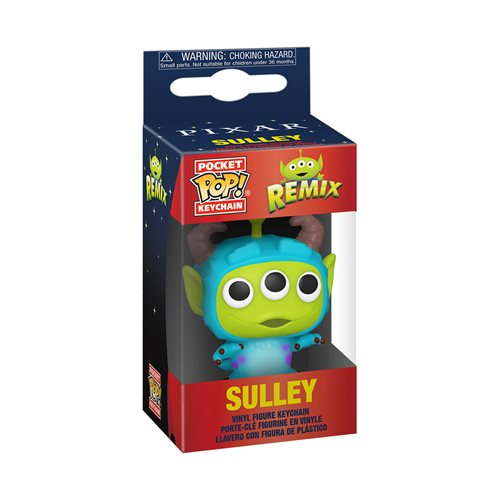 Pixar 25th Anniversary Alien as Sulley Pocket Pop! Key Chain