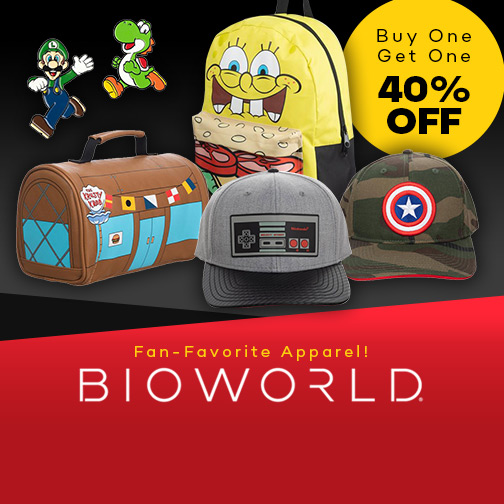 Fan Favorite Apparel Buy One Get One 40% Off on Bioworld