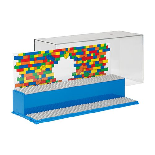 LEGO Blue Play and Display Case