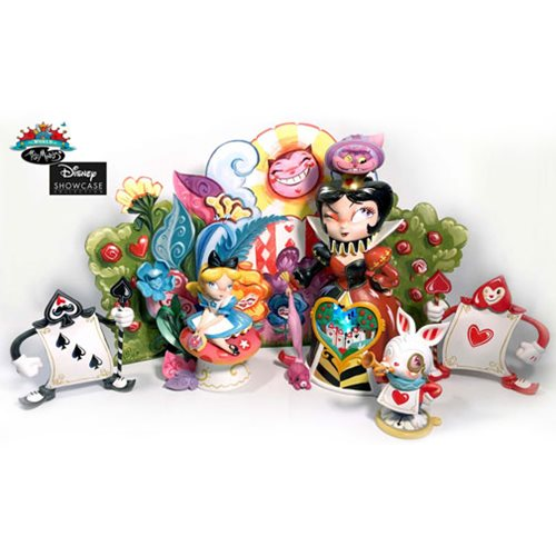 Disney The World of Miss Mindy Alice in Wonderland Deluxe Statue Set