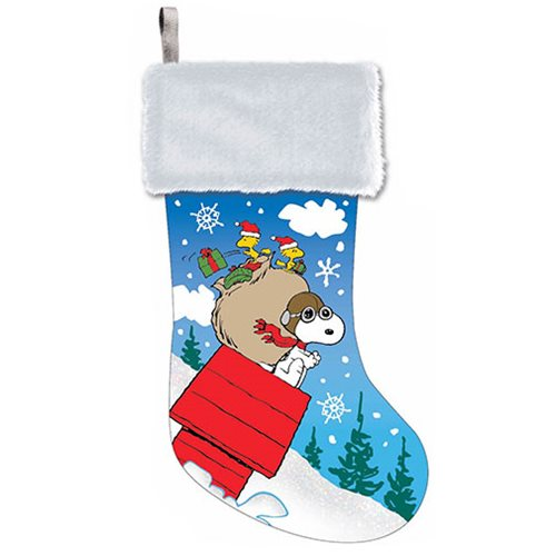 peanuts snoopy 19 inch cuff stocking - Snoopy Christmas Stocking