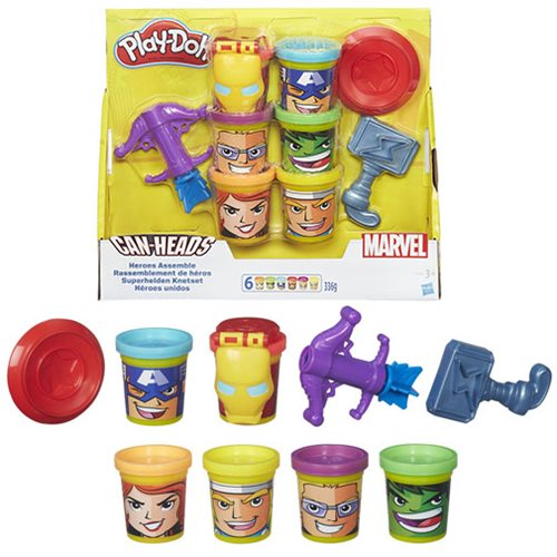 Marvel Heroes Assemble Play-Doh with Can-Heads