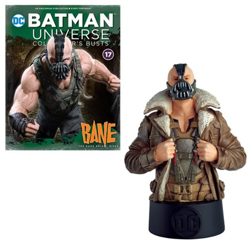DC Batman Universe Dark Knight Rises Bane Bust with Collector Magazine #17