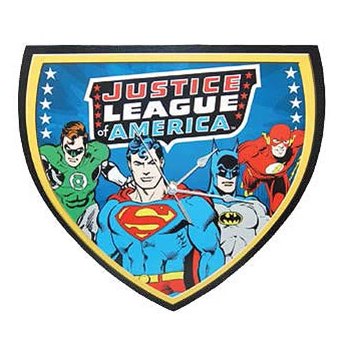 DC Comics Justice League of America Wood Wall Clock, Not Mint