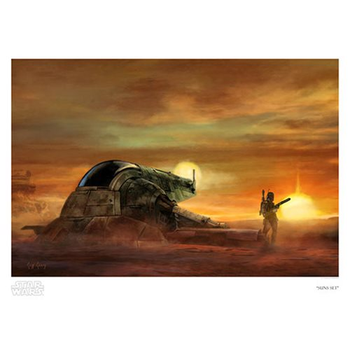 Star Wars Suns Set by Cliff Cramp Paper Giclee Art Print
