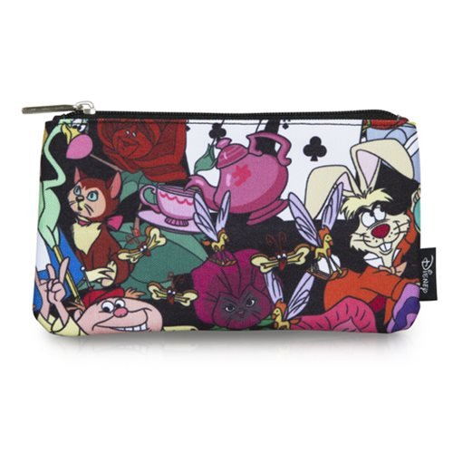 Alice in Wonderland Character Print Travel Cosmetic Bag