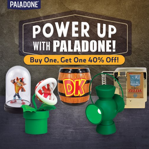 Buy One, Get One 40% Off On Paladone