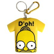 The Simpsons Homer D'Oh! T-Shirt Coin Holder Key Chain