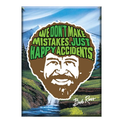 Bob Ross Logo Flat Magnet Entertainment Earth