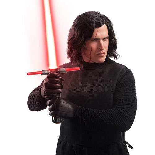 Star Wars: The Last Jedi Kylo Ren Wig and Scar Tattoo Set