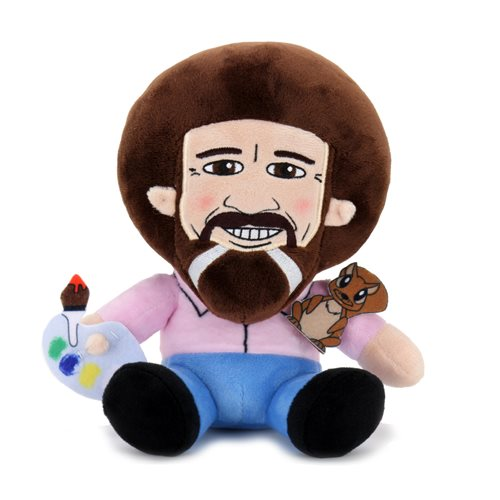 Bob Ross with Peapod the Squirrel Phunny Plush
