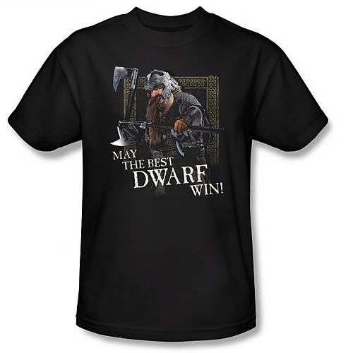 Lord of the Rings Gimli May the Best Dwarf Win Black T-Shirt