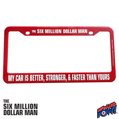 Six Million Dollar Man License Plate Frame - Entertainment Earth