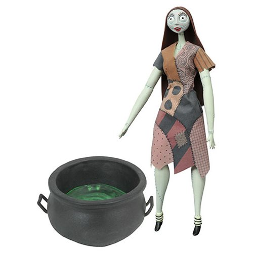 Nightmare Before Christmas Cauldron Sally Deluxe Coffin Doll, Not Mint