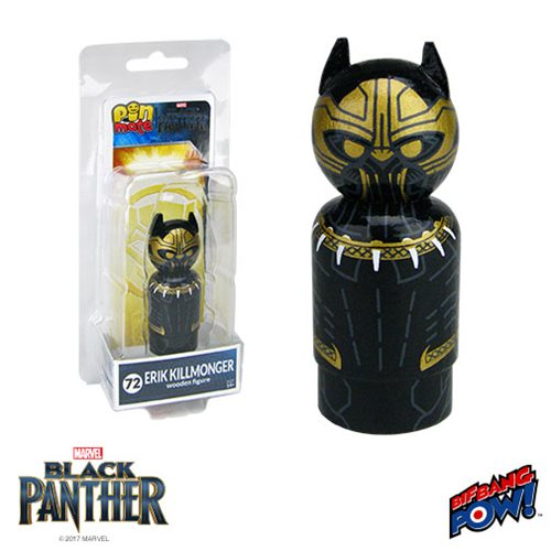 Black Panther Erik Killmonger Pin Mate Wooden Figure