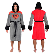 DC Comics Superman Red Son Hooded Fleece Bathrobe