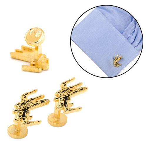 Star Wars X-Wing Gold Plated Cufflinks