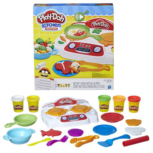 play doh kitchen creations sizzlin stovetop - Kitchen Creations
