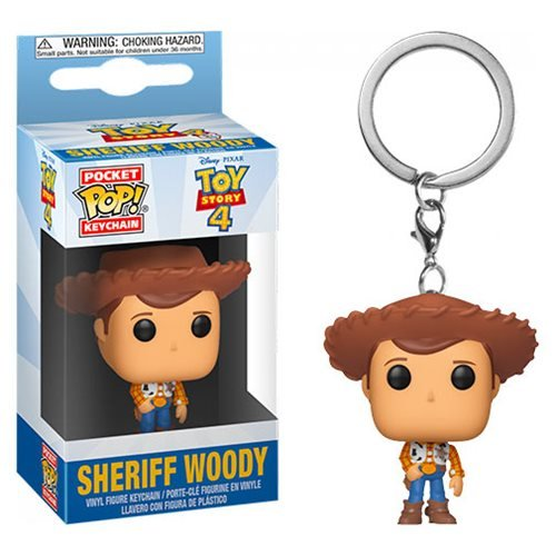 Toy Story 4 Woody Pocket Pop! Key Chain