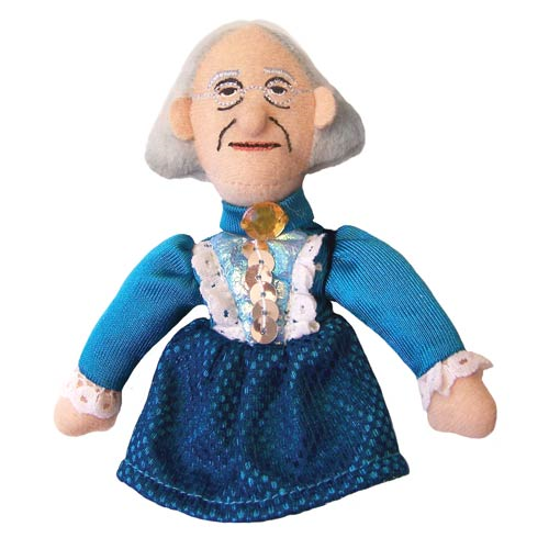 Susan B. Anthony Plush Finger Puppet Magnet