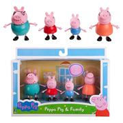 Peppa Pig Peppa and Family 3-Inch Figures 4-Pack