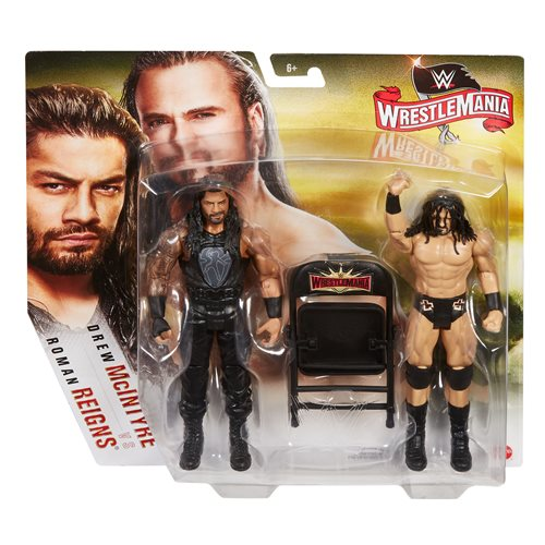 WWE Wrestlemania Drew McIntyre vs Roman Reigns Action Figure 2-Pack