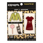 Clueless Icons 4-Piece Enamel Pin Set