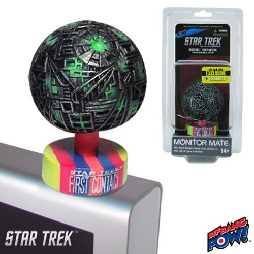Star Trek: First Contact Borg Sphere Monitor Mate Bobble Ship - 2014 Toy Fair Exclusive