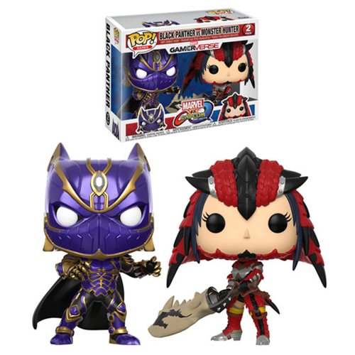 Marvel Vs Capcom Black Panther Vs Monster Hunter Pop! Vinyl 2-Pack