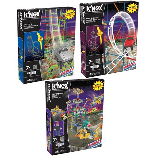 K'NEX Amusement Park Space Series Buildable Set Case