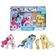 My Little Pony Equestria Friends Pinkie Pie, Rainbow Dash, and Applejack Mini-Figures