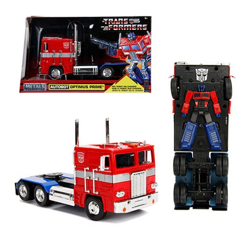 Transformers G1 Hollywood Rides Optimus Prime 1:24 Scale Die-Cast Metal  Vehicle, Not Mint