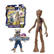 Avengers: Infinity War Rocket Raccoon & Groot with Infinity Stone 6-Inch Action Figures