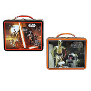 Star Wars Force Awakens Large Carry All Tin Tote Lunch Box Set