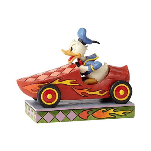 Disney Traditions Soap Box Derby Donald Duck Road Rage Statue by Jim Shore