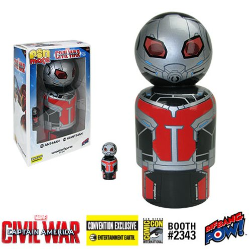 Captain America: Civil War Ant-Man and Giant Man Pin Mate Wooden Figure Set of 2 - Convention Exclusive