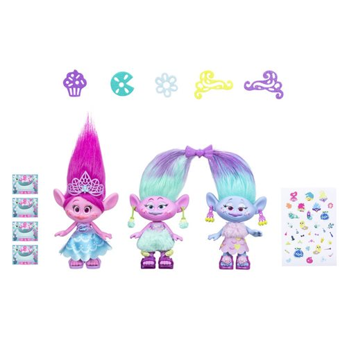 Trolls World Tour Poppy and Twins Doll Celebration Pack