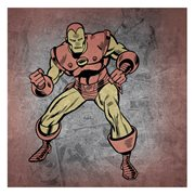 Iron Man Vintage Colored Action Pose Canvas Print
