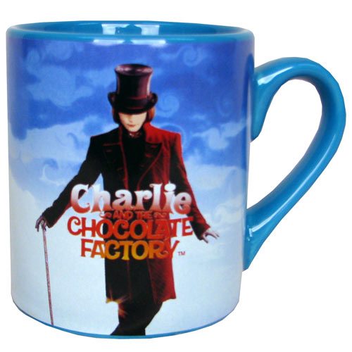 Charlie and the Chocolate Factory Willy Wonka Blue Mug