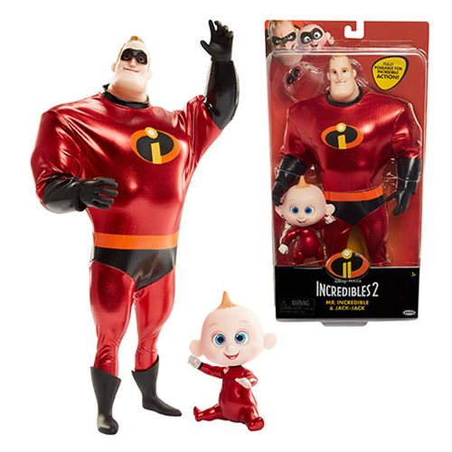 Incredibles 2 Mr. Incredible and Jack-Jack Costumed Dolls 2-Pack