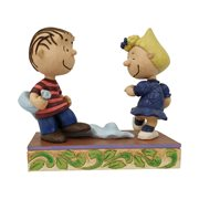 Peanuts Linus and Sally Dancing Christmas Dance Statue by Jim Shore