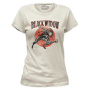 Black Widow Running Ladies White T-Shirt